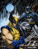 Batman and Wolverine by SWAVE18