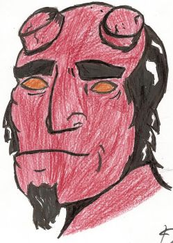 Sharpie Hellboy by Scsii