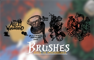 Alice In Wonderland Brushes by Luunatico