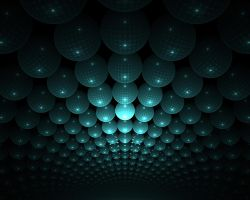 Ceiling of Green Balls by Baddad