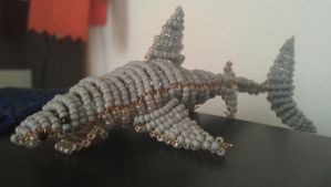 Beaded Great White Shark by ViveEe3