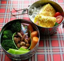 Omelette Lunch by LadySiha