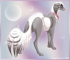 Dip Saluki by DragonCat-Ink