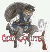 Gray Squirrel Badge by IndigoAngelCat