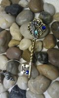 Ocean Treasure Fantasy Key Pendant by ArtByStarlaMoore