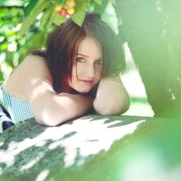 under the cherry tree II by AnitaSadowska