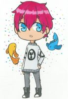 1 fish,2 fish, PINK BOY, blue fish by MartiniCup