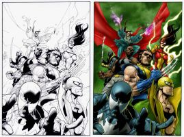 The new avengers 28 cover by Prestegui