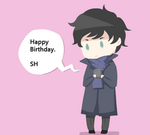 BBC Sherlock: Happy Birthday Text by laertena