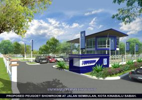 Peugeot Car Showroom Design by zichonilpindi