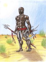 African Warrior by LimeGreenSquid