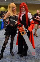 Misa Amane and Grell Sutcliffe by SovietMentality