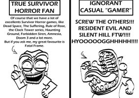 Survivor Horror fans. by BlueStrikerBomber