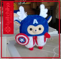 Alpaca Captain America by Witchiko