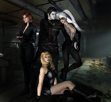 Crossover - Black Widow,Cat,Canary, and Blackheart by DeathsFugitive