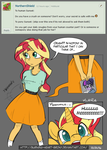 [MLP] - Ask Me: Sunset Shimmer (1) by Burning-Heart-Brony