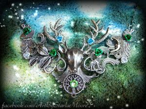 Stag of Whispers by ArtByStarlaMoore