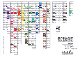 Copic Marker Color Chart by pink-gizzy
