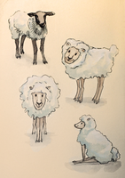 COMMISSION: Sheep Study by TEAofeyes