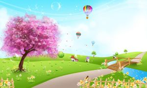 Spring Background Scene 3 by CARFillustration