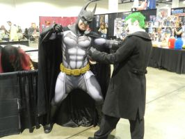 LevelUp Expo 2014 Batman vs. Joker by Demon-Lord-Cosplay