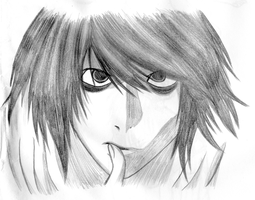 L Lawliet by mashaheart