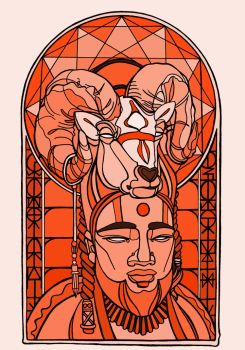 Stained Glass Shaman by disalvatron