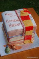 Harry Potter Book Cake by JanJL