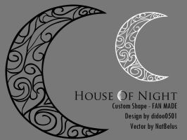 House Of Night Moon Shape by NatBelus