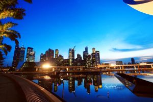 Landscape of Singapore by greende