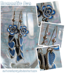 Romantic Sea - Rose Earrings by AutumnHoney