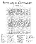 Supernatural Episodes Crossword by angiezinha