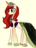 Princess Cadence as Ariel by musicmermaid