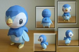 Piplup Papercraft by dodoman75