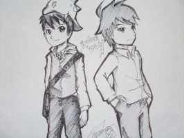 Boboiboy and Mystery Guy! by Zumaki97