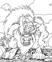 Holloween Werewolf by teaselbone