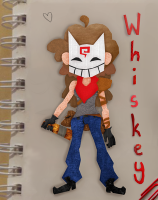 Whiskey Paper Doll by SmolSmartkitty