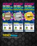 Party tickets design by Numizmat
