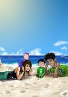 A trip to the beach by kkcooly