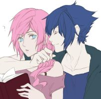Lightning Noctis Reading Colored by 16BrothersxArcaeus17