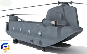 3D Chinook Helicopter by Gandoza
