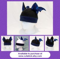 Space Bat Hat Gold Spots by cutekick
