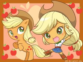 Equestria Chibi Girls: Applejack by J8d
