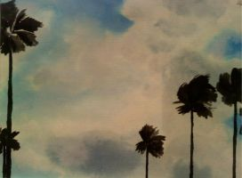 palm trees and the sky by LopezGdlp