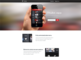 Landing page (ytubeapp) by OtherPlanet