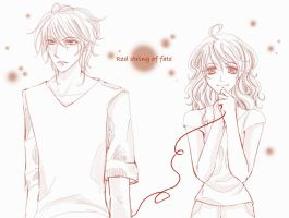 : Red string of fate : by lollipopz-box