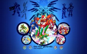Megaman The Four Generals by Lint22