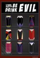 Be Evil, Drink Evil - Female Disney Villains Soda by oneskillwonder