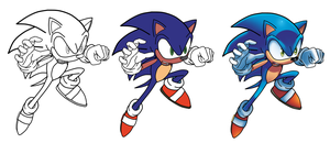 Sonic the Hedgehog Inks-to-Colors by WaniRamirez