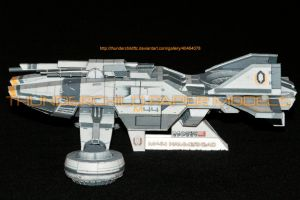 Mass Effect Hammerhead Paper model Side view by ThunderChildFTC